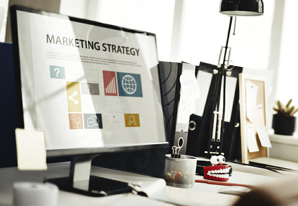 commercial real estate specialist planning a marketing strategy