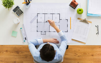 Commercial office space layout