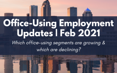 Office-using employment update Feb 2021 by John Milsaps